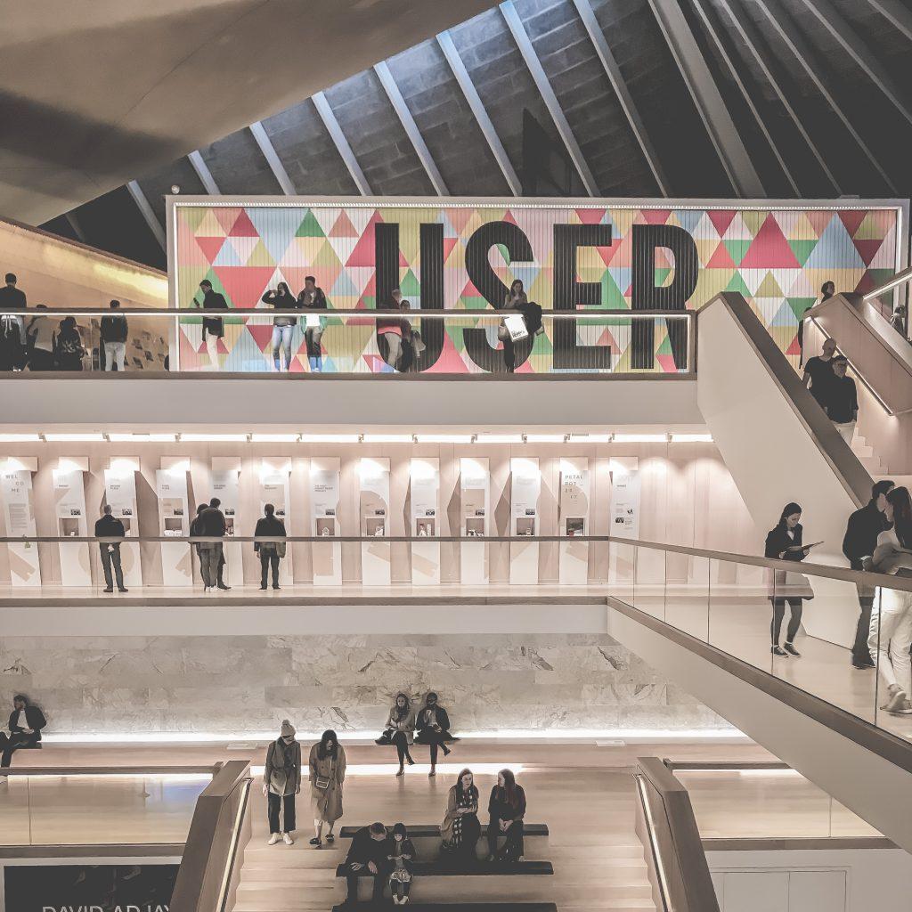 progettare homepage - museo del design londra
